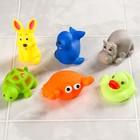 Набор игрушек для ванны «Морские животные №3», 6 шт., МИКС