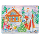 Пазл мягкий 12 элементов «Дед Мороз и зайчата»