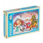 Пазлы «Дед Мороз и новый год», 80 элементов, цвета МИКС