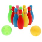 Набор для боулинга «Страйк», 10 кеглей (высота 10,5 см), 2 шара