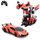 Робот-трансформер радиоуправляемый Lamborghini Veneno, работает от аккумулятора, масштаб 1:22, mz 2333X, цвет оранжевый