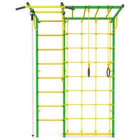 Детский спортивный комплекс «Роки с рукоходом», ПВХ, цвет зелёный