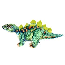 """Мягкая игрушка """"Динозавр Стегозавр"""", цвет зелёный, 38 см"""