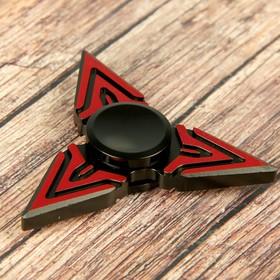"""Спиннер """"Раскаленная лава"""", красно-черный, 6*6 см"""