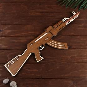 """Сувенирное оружие """"Автомат АК-47 большой"""", собранный 64x20 см"""