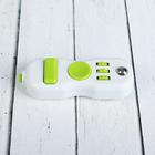 Джойстик-антистресс, зелёные кнопки, цвет белый