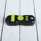 """Джойстик-антистресс """"Спиннер"""", зелёные кнопки, цвет чёрный"""