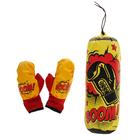 Боксерский набор BOOM, груша и перчатки