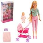 Кукла модель «Алина» с пупсом, коляской и аксессуарами, МИКС