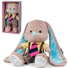 """Мягкая игрушка """"Зайчик Жак в полосатом галстуке"""" 25 см"""