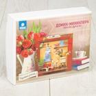 """Интерьерный домик - миниатюра в рамке, своими руками """"Садовый уголок"""""""