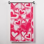 Полотенце махровое Valentines ПЛ-2602-3130, 50х90 см, цв. 10000, розовый, 420 г/м, 100% хл.   301479