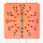 """Геоборд """"Часы, минуты"""" розовый"""