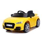Электромобиль AUDI TT RS, окраска желтый, EVA колеса, кожаное сидение