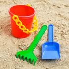 Набор для игры в песке №29: ведёрко, лопатка, грабельки