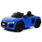 Электромобиль AUDI R8 Spyder, EVA колёса, кожаное сидение, цвет синий глянец