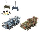Военная стратегия «Сражение», 2 БТР, на радиоуправлении, свет и звук, в пакете
