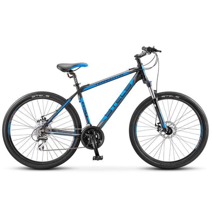 Велосипед 27,5 Stels Navigator-650 MD, V030, цвет чёрный/синий, размер 17,5