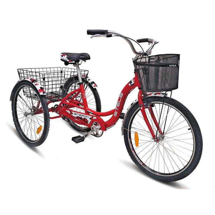 Велосипед 26 Stels Energy-I, V030, цвет красный/белый, размер 16