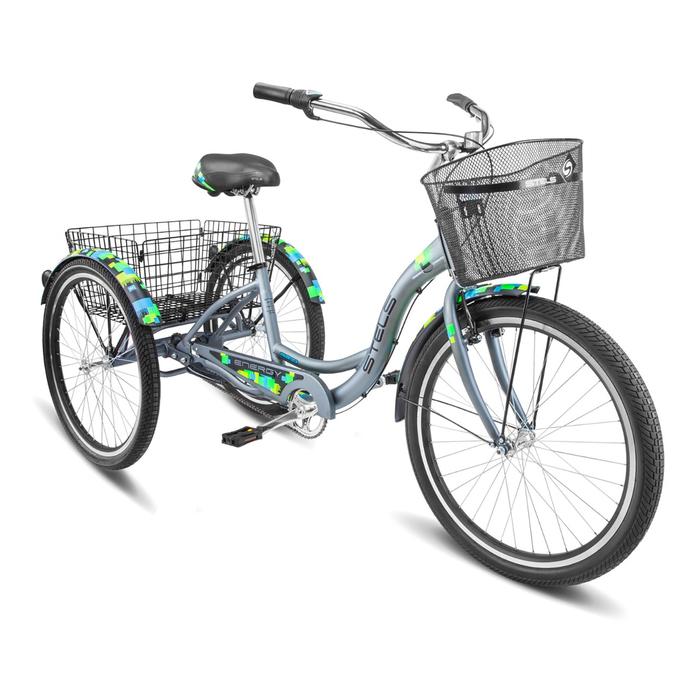 Велосипед 26 Stels Energy-III, V030, цвет серый/чёрный, размер 16