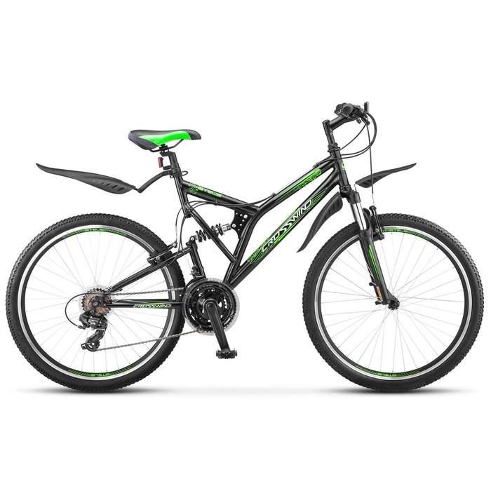 Велосипед 26 Stels Crosswind, Z010, цвет чёрный/салатовый, размер 20