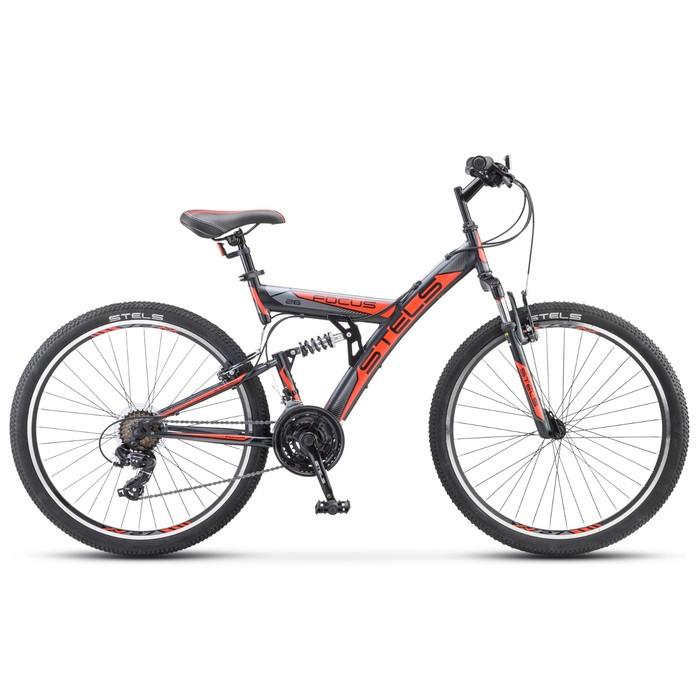 Велосипед 26 Stels Focus V, V030, 18 скоростей, цвет чёрный/красный, размер 18