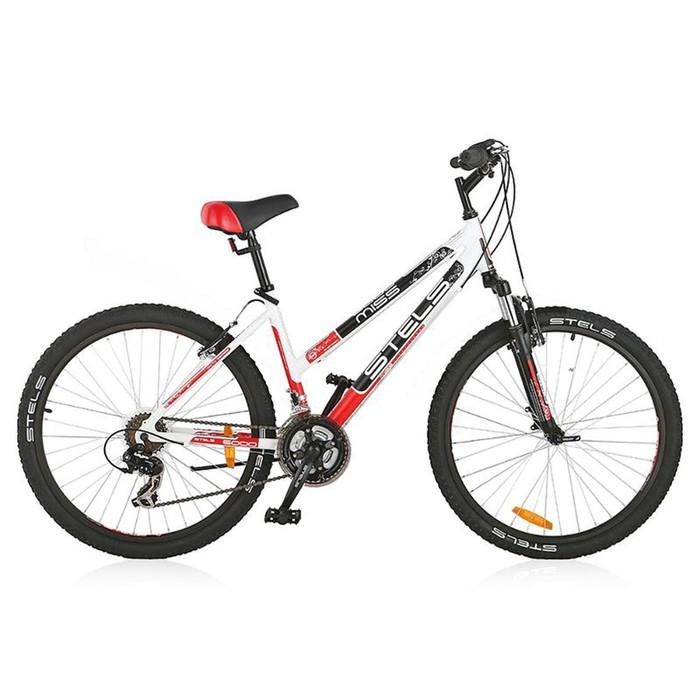 Велосипед 26 Stels Miss-6000 V, V010, цвет белый/чёрный/красный, размер 17