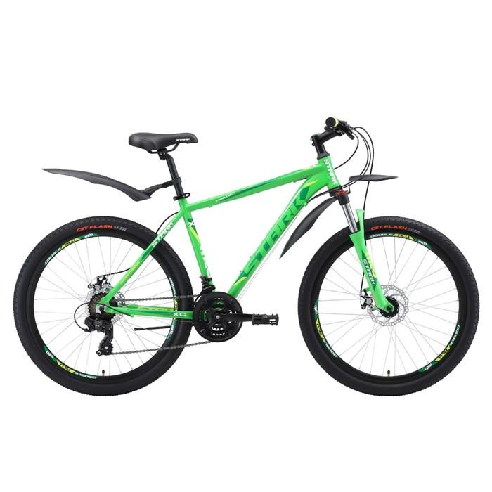 Велосипед 26 Stark Hunter 2 D, 2018, цвет зелёный/тёмно-зелёный/белый, размер 20