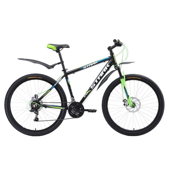 Велосипед 27,5 Stark Tank D, 2018, цвет чёрный/зелёный/белый, размер 16