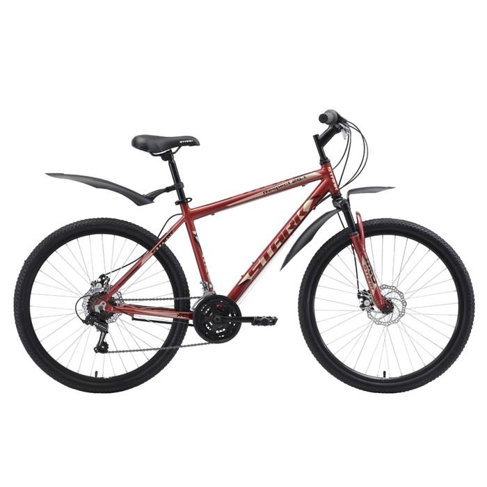 Велосипед 26 Stark Respect 1 D, 2018, цвет тёмно-коричневый/бежевый/чёрный, размер 20