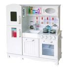 Детская игровая мебель из дерева «Модуль кухни», белый цвет, с аксессуарами