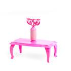 """Журнальный столик с цветами для куклы """"Зефир"""""""