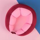 Антистресс-подголовник на застёжке, цвет бордовый