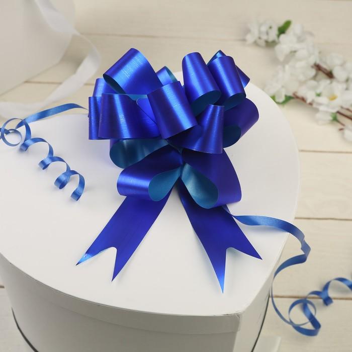 Бант-шар №3 простой синий