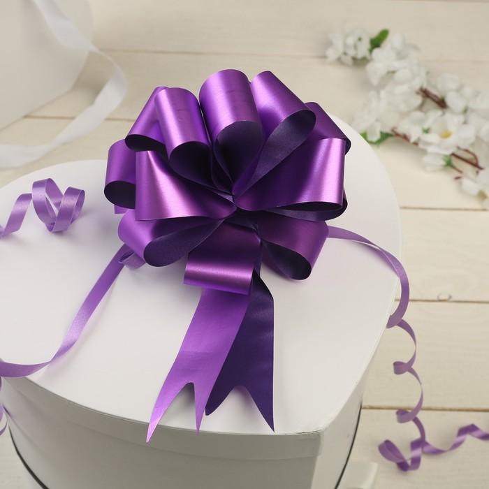 Бант-шар №3 простой фиолетовый