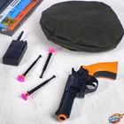 Игровой набор оружия, с головным убором «Отряд Альфа» (пистолет, рация, берет, присоски 3 шт.)