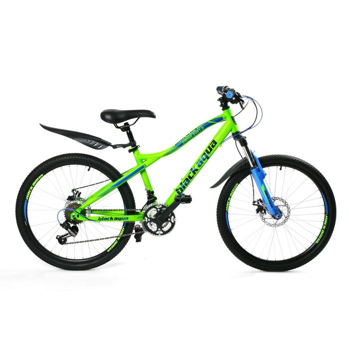 Велосипед 24 Black Aqua Cross 2481D, 2017, цвет зеленый, размер 18