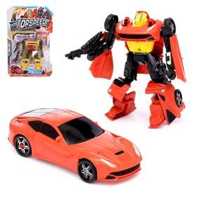 Робот-трансформер «Спорткар», цвета МИКС