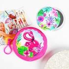 """Детский набор """"Фламинго"""": кошелёк 9 см, зеркало"""