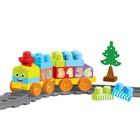 Игровой набор «Моя первая железная дорога» с конструктором, 36 элементов, 145 см