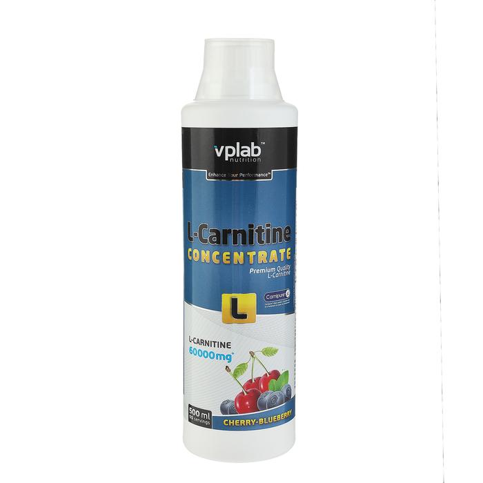 L-карнитин концентрат VPLab, вишня-черника, 500 мл