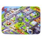 Детский ультрамягкий игровой коврик «Город», размер 180х130 см