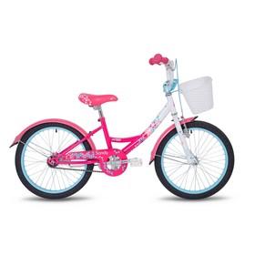 """Велосипед 20"""" Pride Sandy, 2018, цвет белый/малиновый/розовый"""