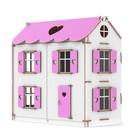 """Кукольный домик """"Цветной"""", в подарочной упаковке, высота этажа — 16 см, высота мансарды — 9,5 см"""