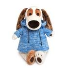 """Мягкая игрушка """"Бартоломей"""" в голубой куртке B&Co, 27 см"""