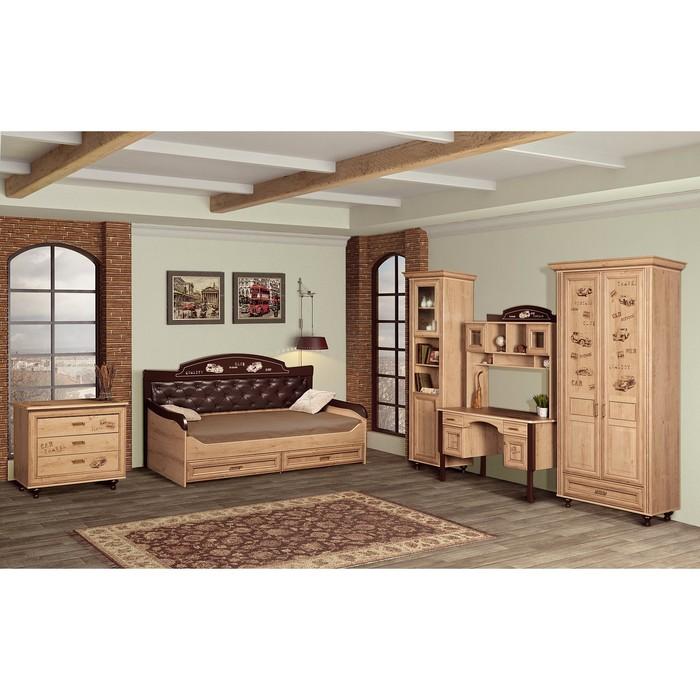 Комплект мебели для детской Ралли 1, 6175х970х2190 мм, цвет дуб ридинг