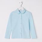 Блузка для девочки, рост 116 см, цвет голубой