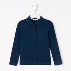 Блузка для девочки, рост 116 см, цвет синий