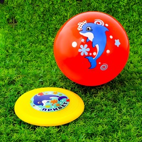 """Игровой набор: фрисби, мяч детский """"Дельфин"""", 22 см"""