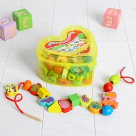 """Шнуровка """"Учимся считать"""", 60 элементов, цвета МИКС"""